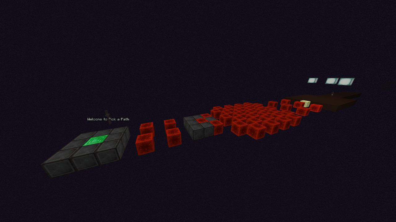 Custom Minecraft Parkour Server, World Parkour Maker, Level: Pick a Path v1