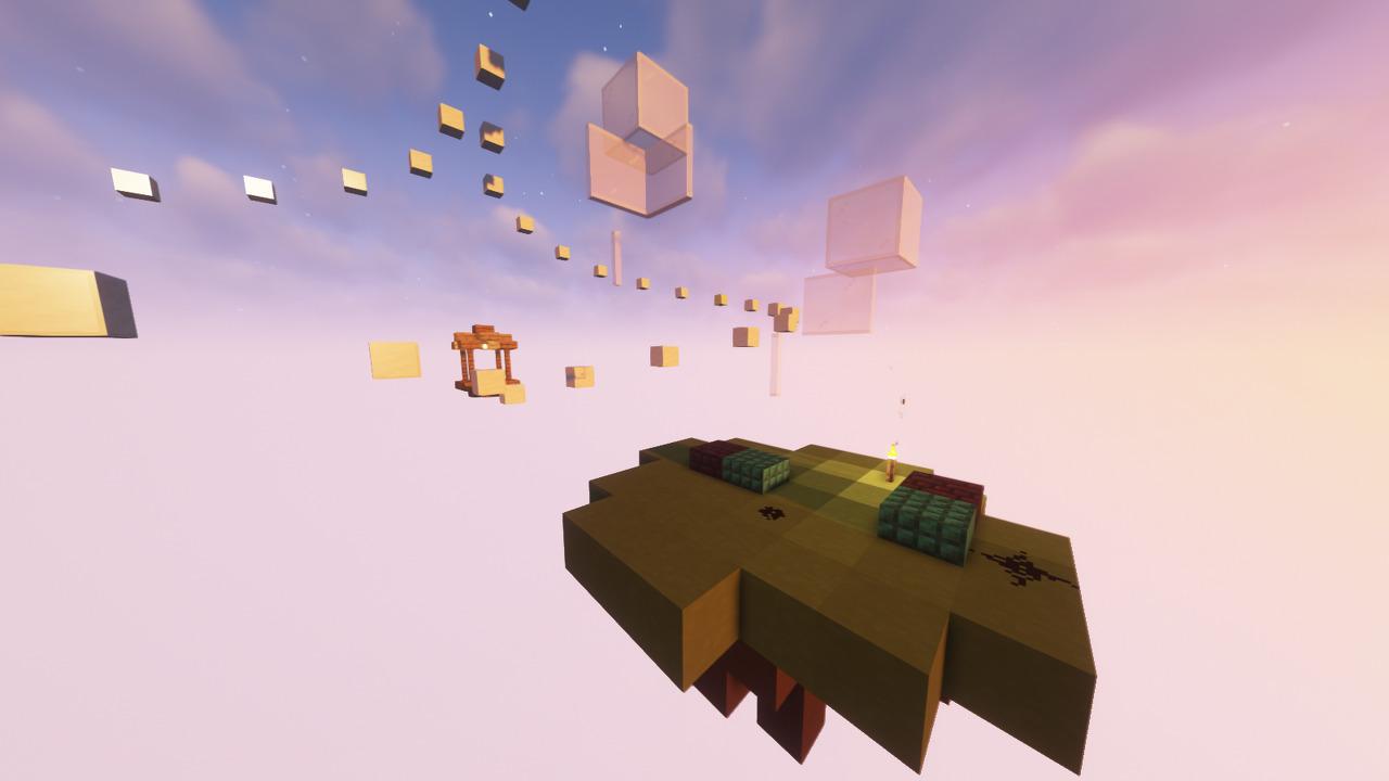 Custom Minecraft Parkour Server, World Parkour Maker, Level: Road to Heaven
