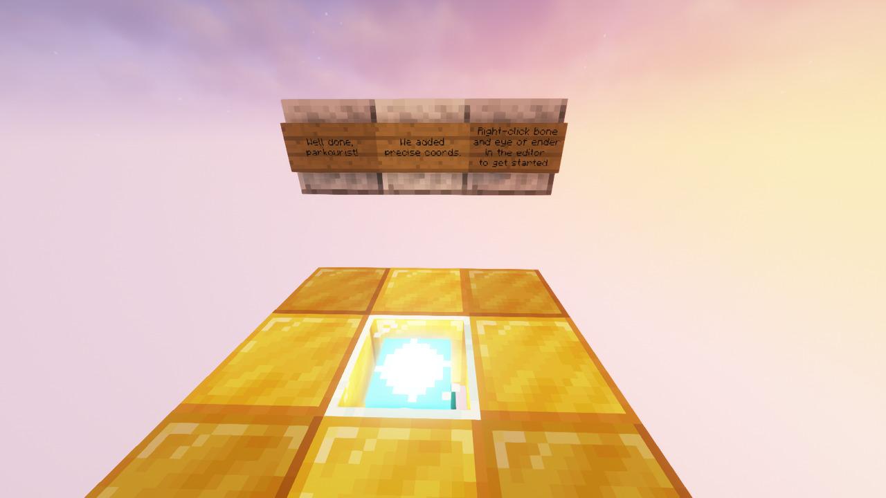 Custom Minecraft Parkour Server, World Parkour Maker, Level: Precise Coords