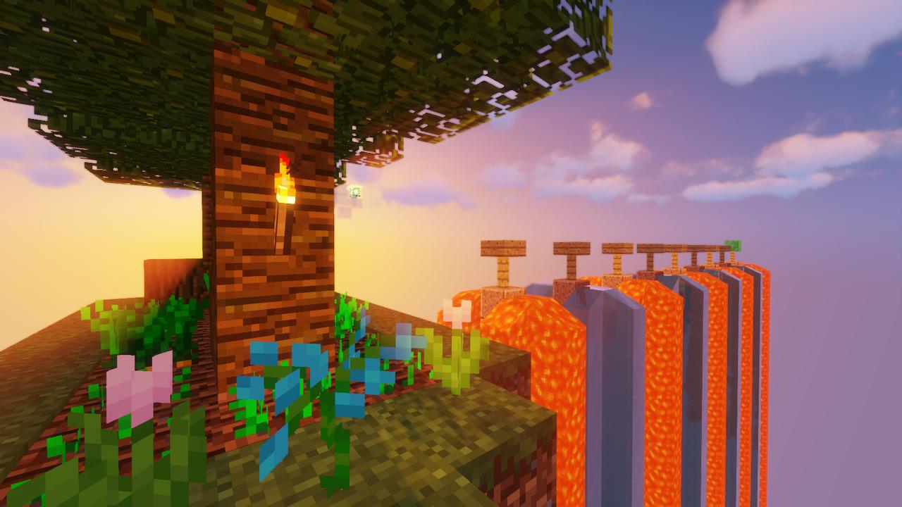 Custom Minecraft Parkour Server, World Parkour Maker, Level: Flow