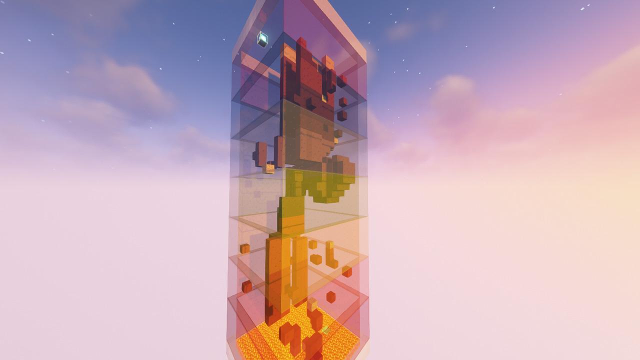Custom Minecraft Parkour Server, World Parkour Maker, Level: Rainbow Gauntlet