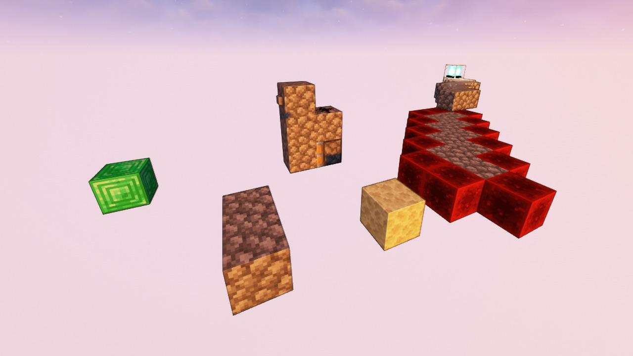 Custom Minecraft Parkour Server, World Parkour Maker, Level: easy