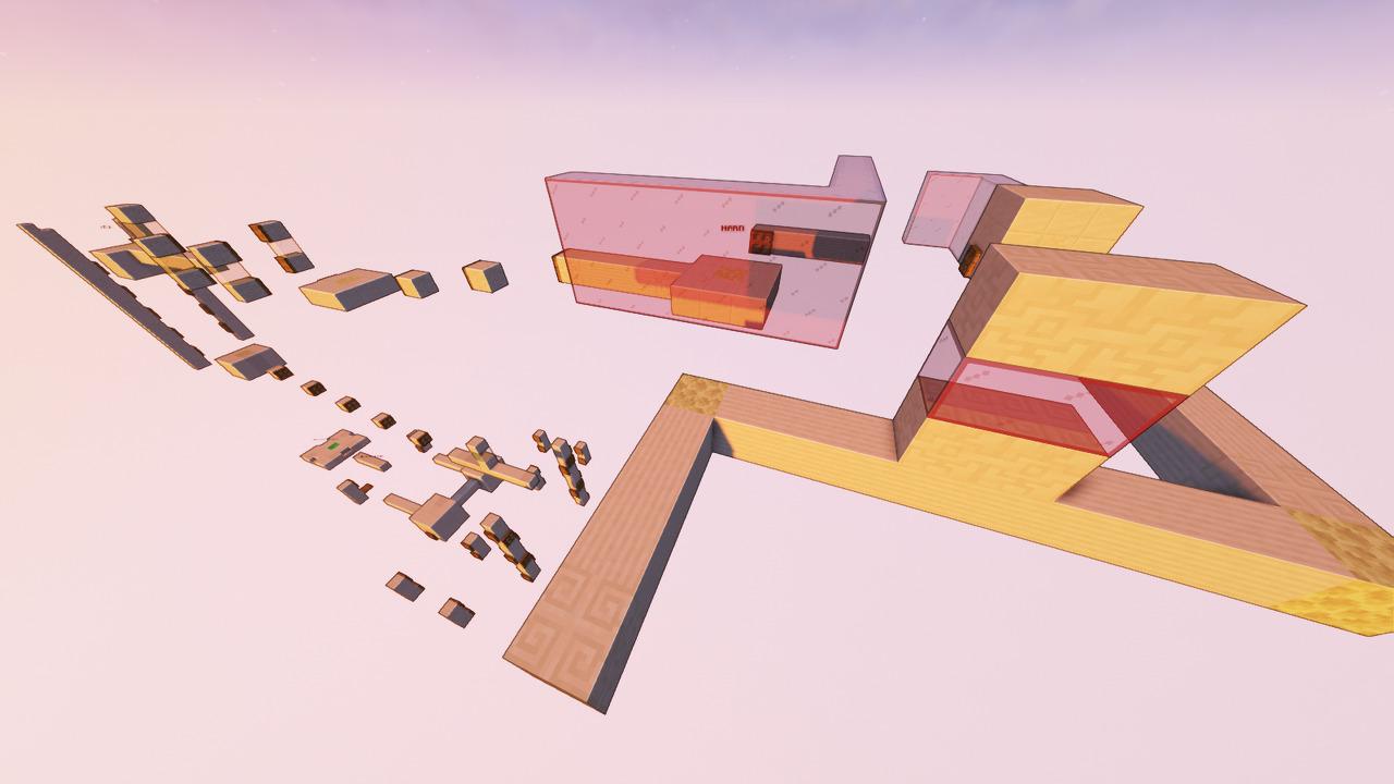 Custom Minecraft Parkour Server, World Parkour Maker, Level: Long Gountlet