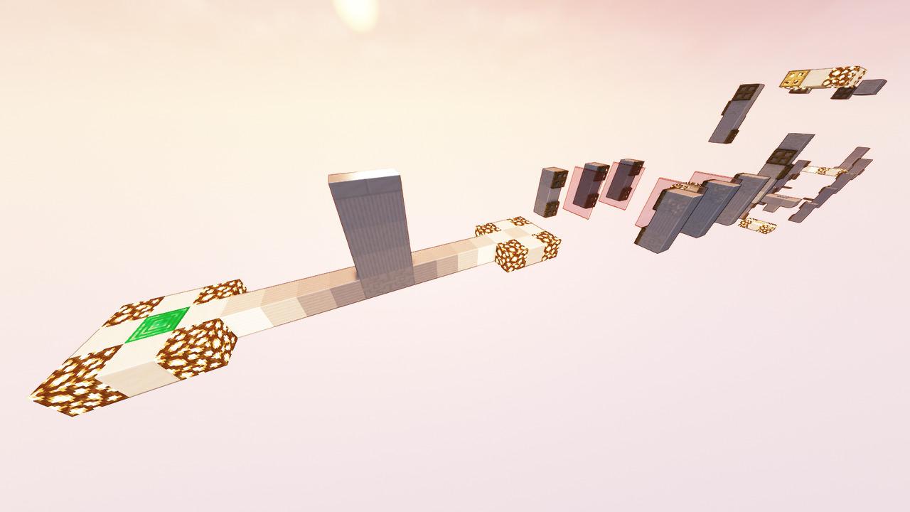Custom Minecraft Parkour Server, World Parkour Maker, Level: Long Gauntlet 3