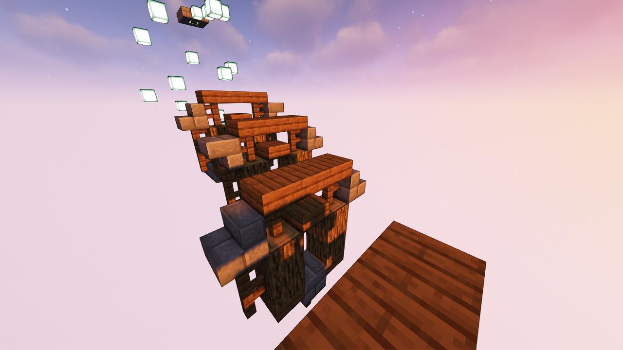 Custom Minecraft Parkour Server, World Parkour Maker, Level: Sky Jumping
