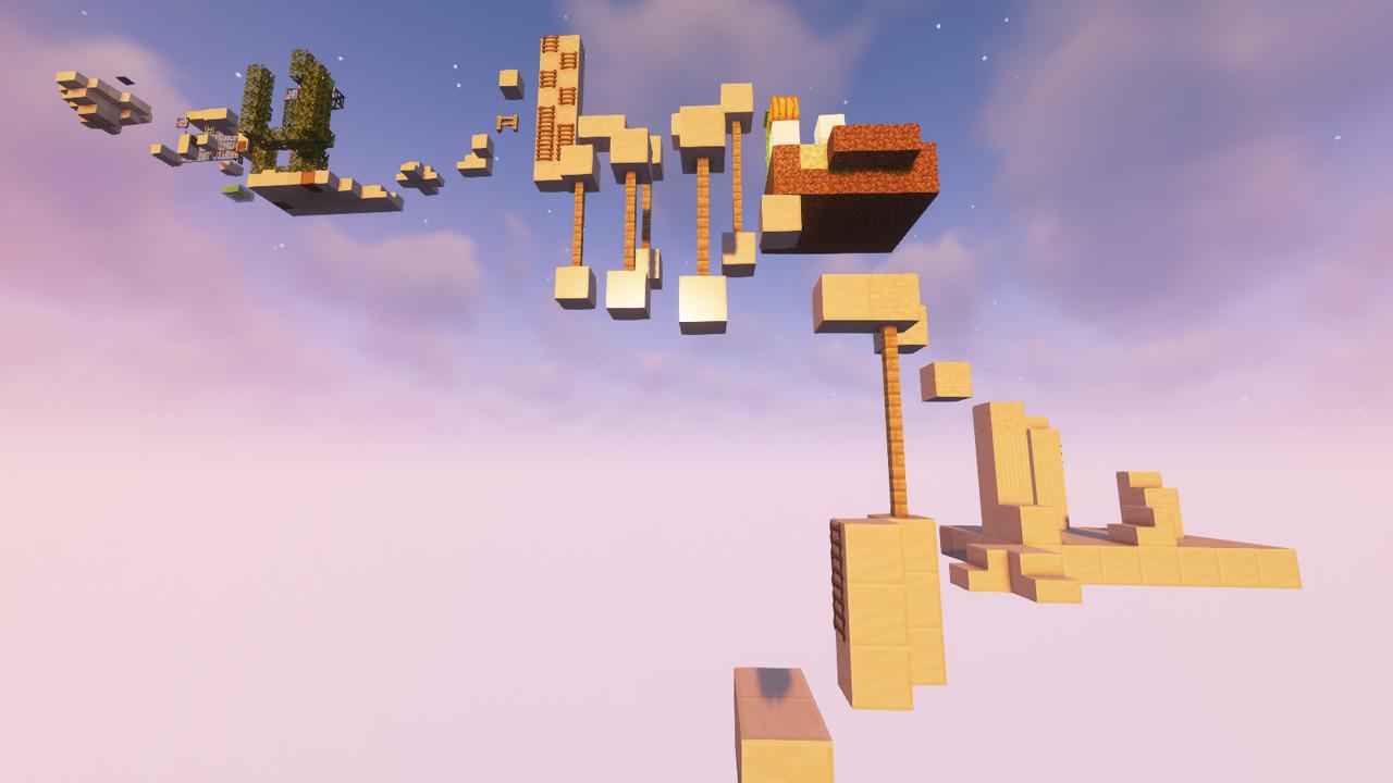 Custom Minecraft Parkour Server, World Parkour Maker, Level: Quartxz 1
