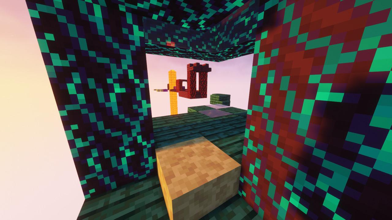 Custom Minecraft Parkour Server, World Parkour Maker, Level: Ender Jumps