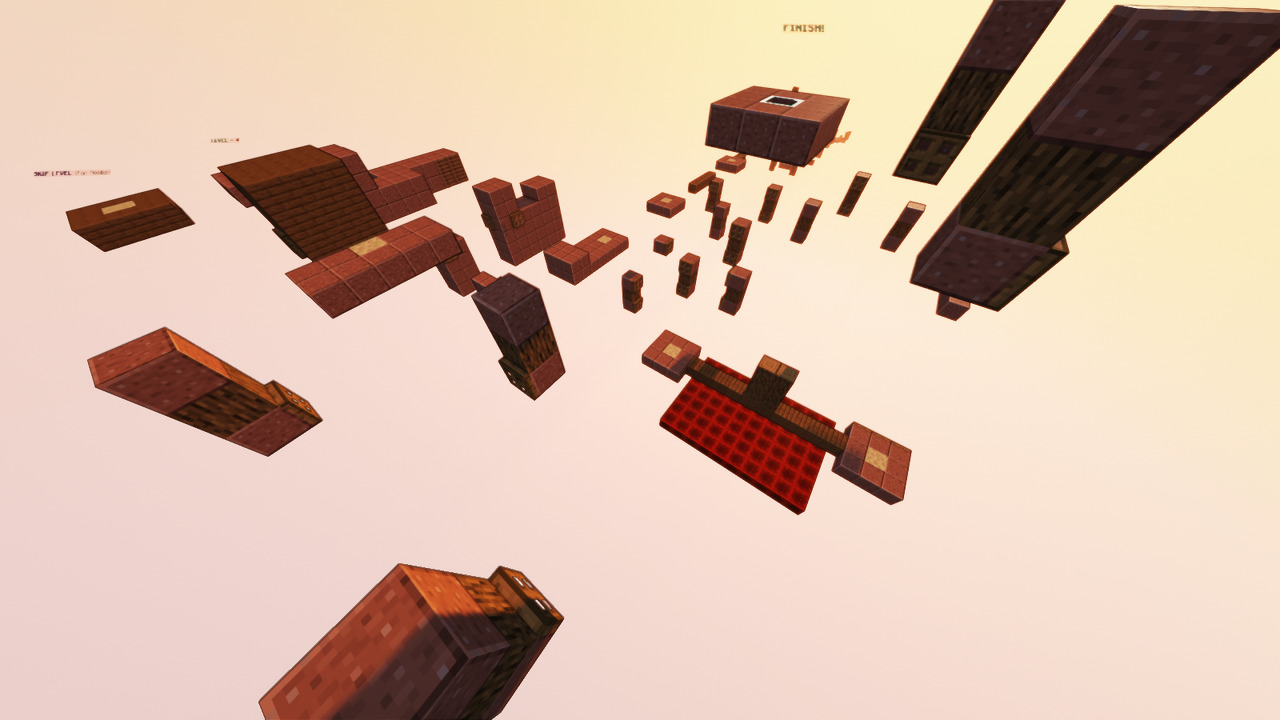 Custom Minecraft Parkour Server, World Parkour Maker, Level: Long Gauntlet 2