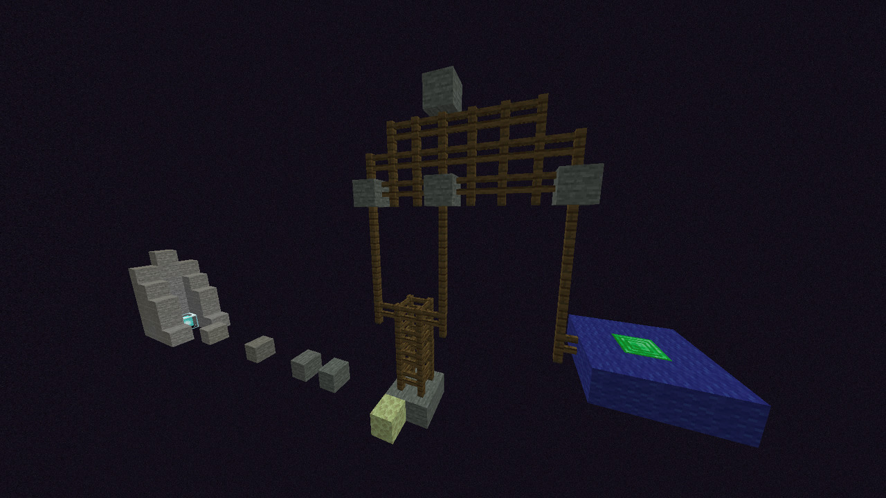 Custom Minecraft Parkour Server, World Parkour Maker, Level: easy fence