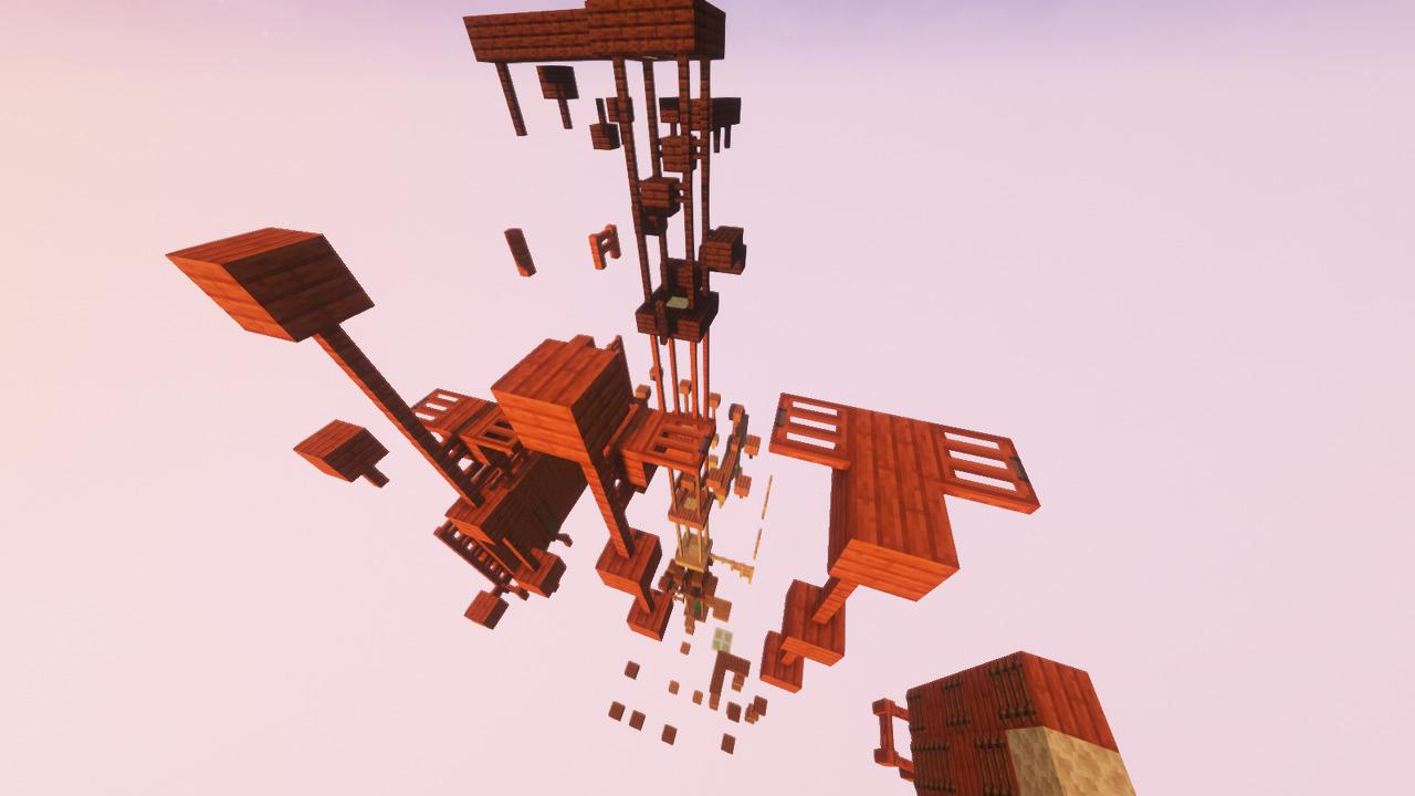 Custom Minecraft Parkour Server, World Parkour Maker, Level: Climb the Planks