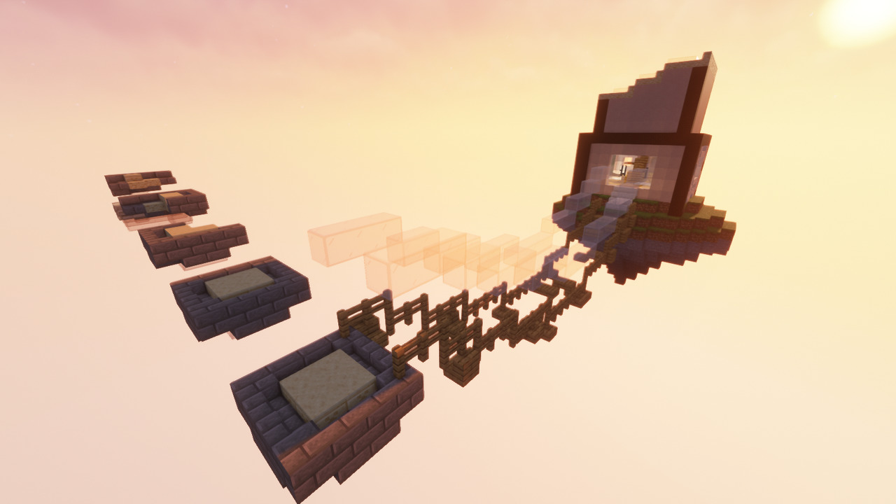 Custom Minecraft Parkour Server, World Parkour Maker, Level: Touhu Kentiku