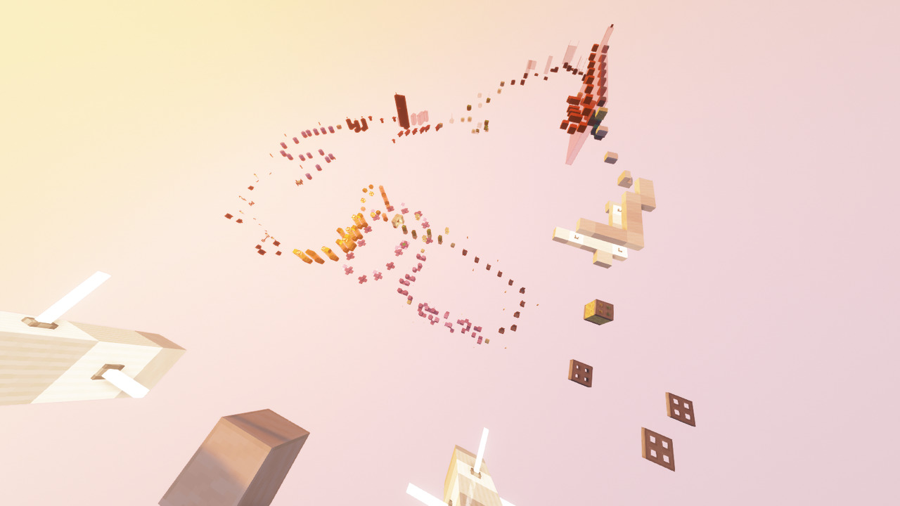 Custom Minecraft Parkour Server, World Parkour Maker, Level: Rainbow road