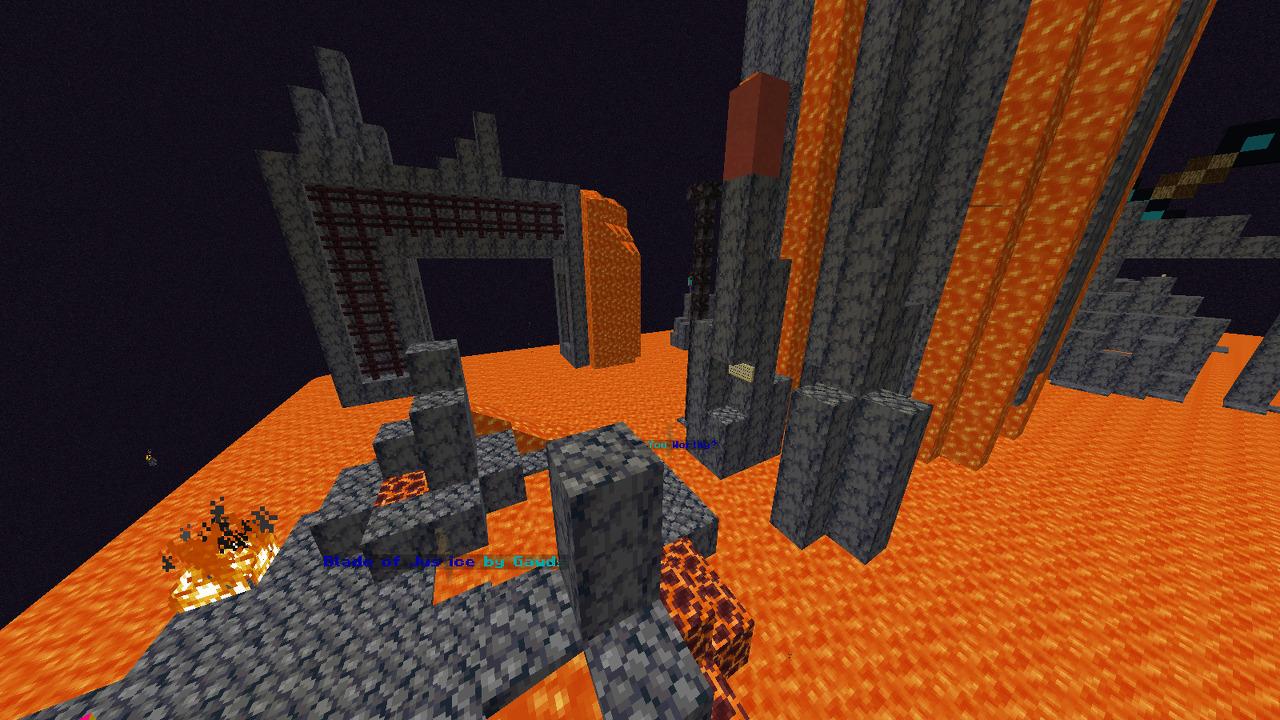 Custom Minecraft Parkour Server, World Parkour Maker, Level: Blade of Justice