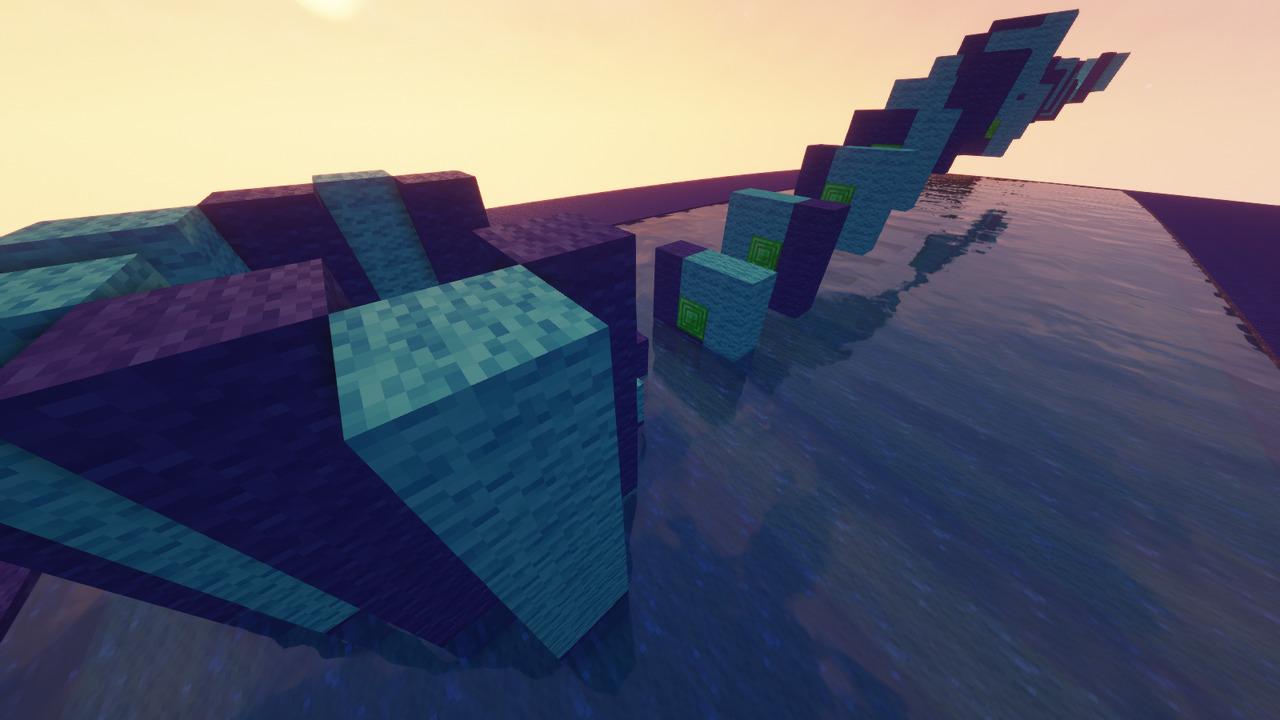 Custom Minecraft Parkour Server, World Parkour Maker, Level: Blue Speedrun